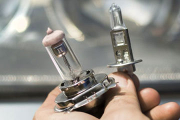 Types d'ampoule dans une voiture